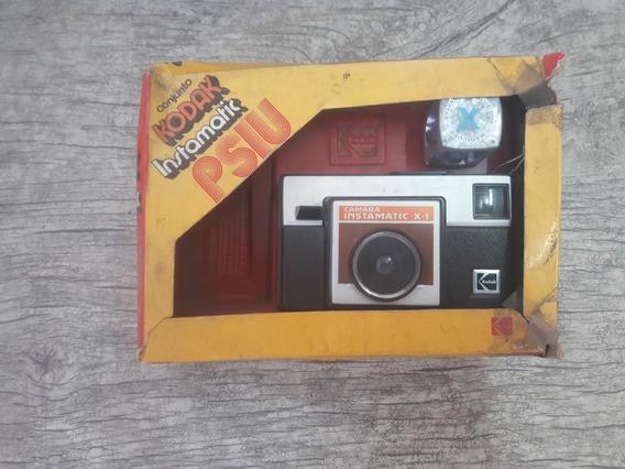 Camera Antiga Kodak Instamatic X1 Com Caixa