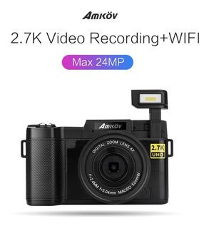 2.7k Full Hd 24mp Wifi Cámara Grabar Cargar Videos Negro