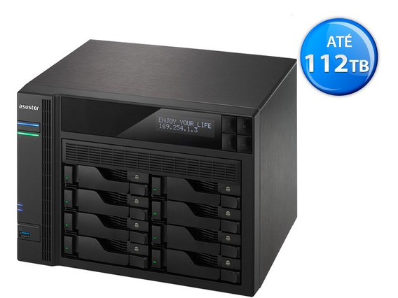 Servidor Nas As6208t Intel Quad Core 4gb- Até 112tb - Sem Hd
