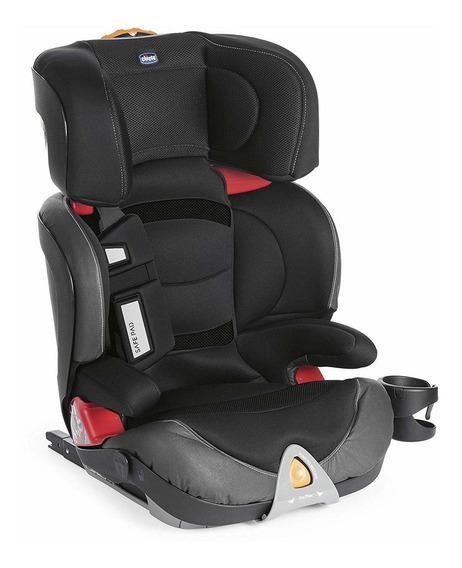 Cadeira De Automovel Oasys 2-3 Fix Plus Evo Jet Black Chicco