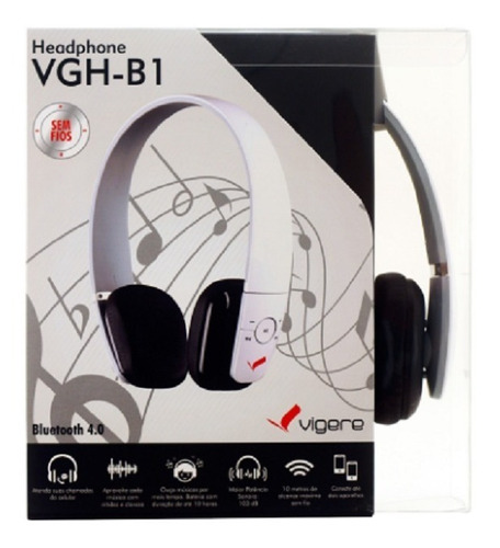 Fone Sem Fio Bluetooth / Headphone Vgh-b1 - Vigere