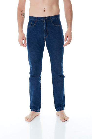 Pack X 3 Pantalones Jeans Clasico Azul Hombre Por Mayor