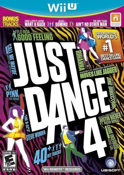 Wiiu - Just Dance 4 - Midia Fisica - Novo