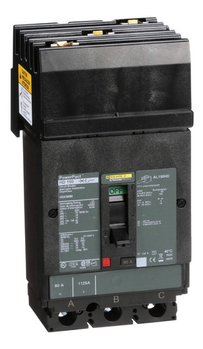 Imagen 1 de 1 de Interruptor Termomagnético Hda 3p 80a Schneider Hda36080