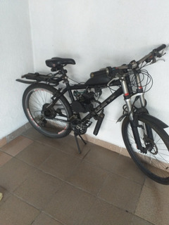 Bicicleta Motorizada Gts Motor 2t 80cc Aro 26