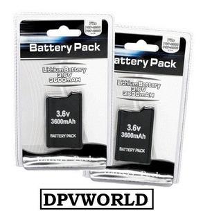 Batería Psp Serie 1000 Recargable 3.6v 3600mah Battery Ancha