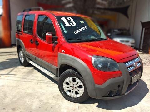 Fiat Doblo 6 Lugares Adventure Xingu Vermelha 2013 60.000 Km