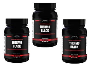 Thermo Black Termogênico Queimador Emagrecedor, Kit Com 3