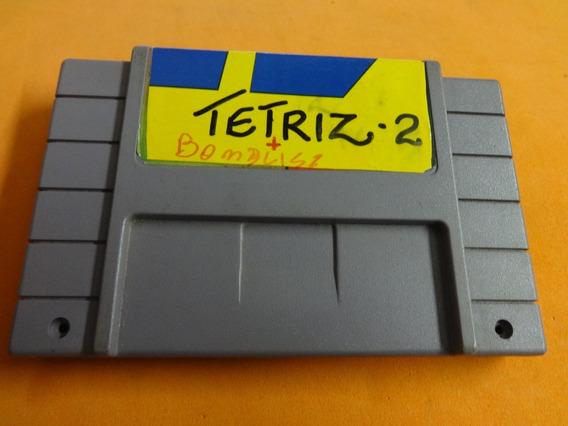 Tetris 2 + Super Bombliss Super Nintendo Snes