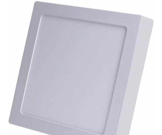 Kit 7 Plafon Led Quadrado Sobrepor Branco Frio 12w