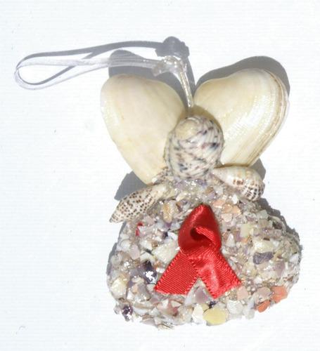Imagen 1 de 1 de Angel Decoracion Arbol De Las Conchas Artesania De Bahamas