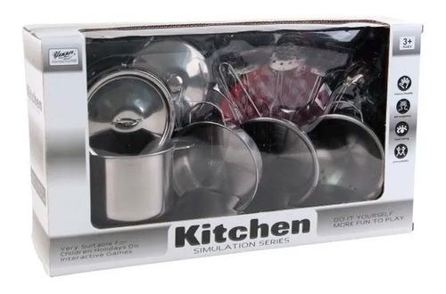 Set Real De Cocina 11 Piezas Juego Cocina Minikitchen Color