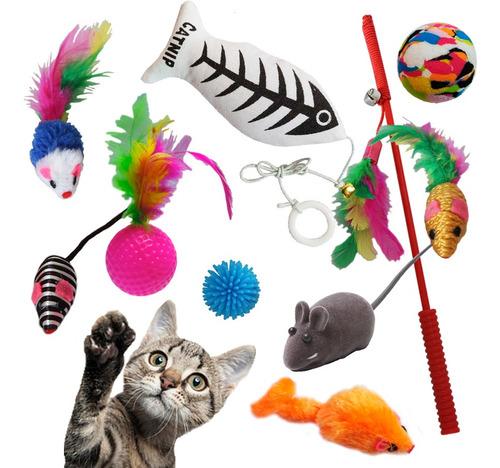 Imagem 1 de 1 de Kit 10 Mini Brinquedos Gatos Recreação