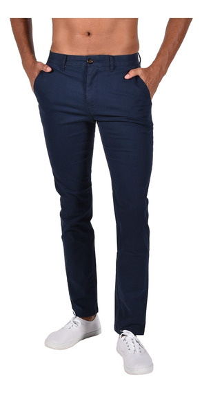 Pantalón Straight Fit Tommy Azul Mw0mw07182-416 Hombre