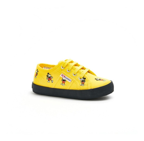 Zapatillas Nena Nene Amarillas Superga Mickey Disney