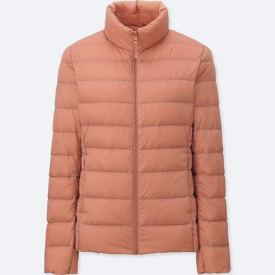 Uniqlo Ultra Light Down Jacket Mujer Light Orange Xl Nueva