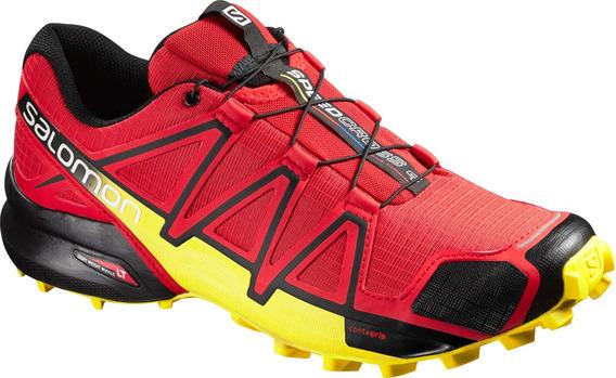 Zapatilla Masculina Salomon - Speedcross 4 M Rojo/amarillo