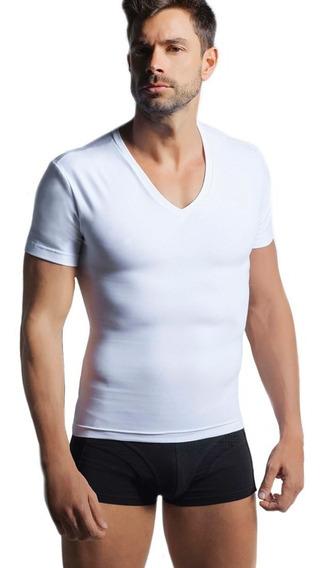 Camiseta Playera Faja Reductora Para Hombre Algodon Lycra Discreta Y Fresca Usala Como Tu Ropa Interior Pasa Inadvertida