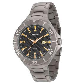 Relógio Seculus Masculino Titanium Analógico 20289g0svnt1