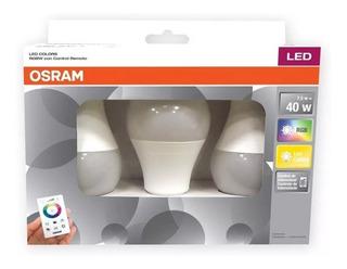 Lámpara Led Osram 7.5w X3 Rgb Dimerizable C/control E27