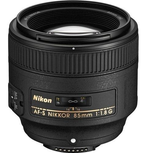 Lente Nikon Af-s 85mm 1.8 G Nikkor C/ Nf