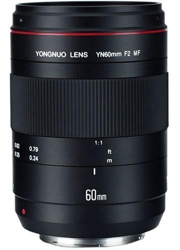 Lente Yongnuo Yn 60mm F / 2 Mf P/ Canon Ef C/ Uv 67mm Brinde