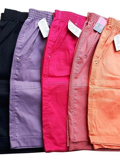 Short Feminino Plus Size Tamanho Grande Kit Com 4 Pecas