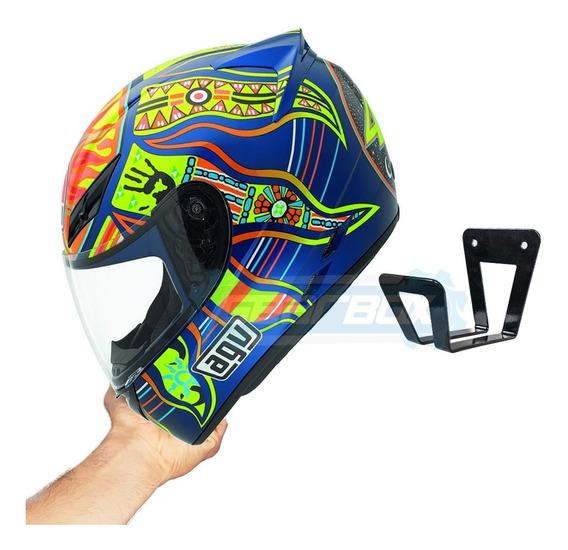 Suporte Para Capacete Moto De Parede Mf Avatron Tiozao
