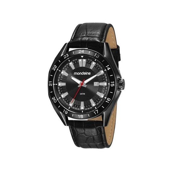 Relógio Mondaine Masculino Preto 83391gpmvsh1
