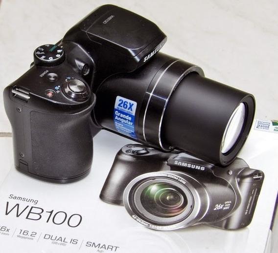 Câmera Samsung Wb100 16.2mp + Carregador De Pilhas