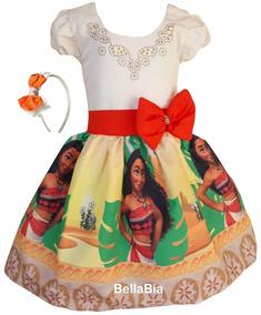 Vestido Moana + Tiara Brinde