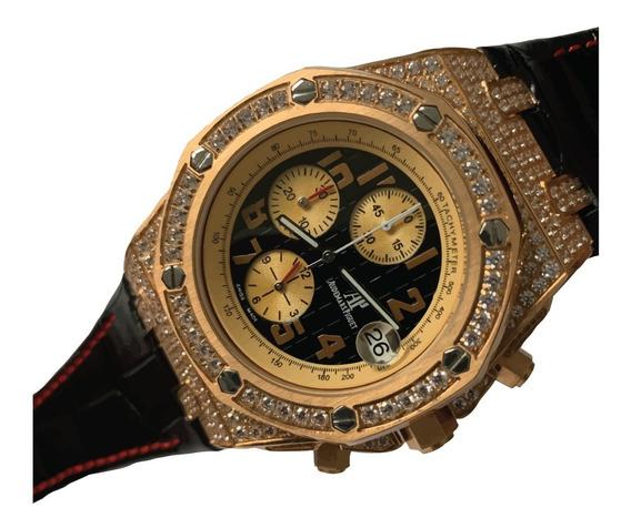 Reloj Audemars Piguet Royal Oak Offshore Cristales Piel 384