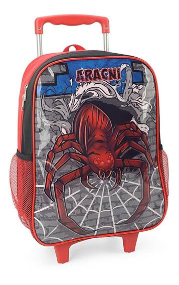 Kit Mochila De Rodinha Escolar Masculina Spider Ic32802