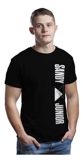 Camiseta Sandy E Junior Logo Vertical P Ao Plus Size G3