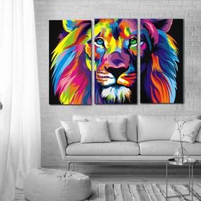 Animales Trípticos 60x90,varios!cuadros Modernos Decorativos