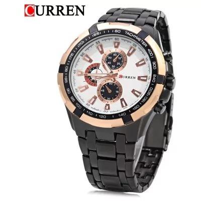 Relógio Curren Masculino Original Pulseira Aço Super Barato
