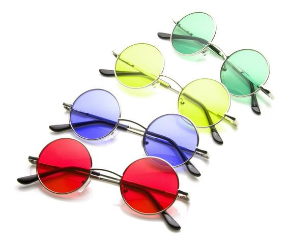Óculos De Sol Hippie - John Lennon - Lente Colorida
