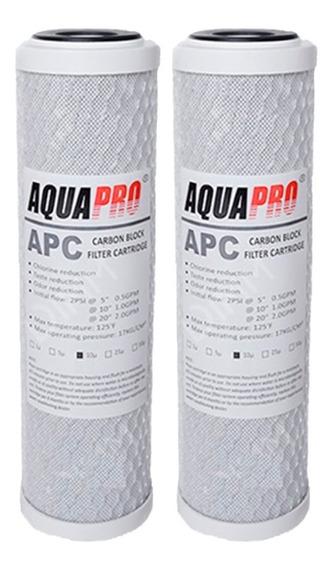 Filtro Carbon Bloque Aquapro 5 Micras Para Osmosis Inversa