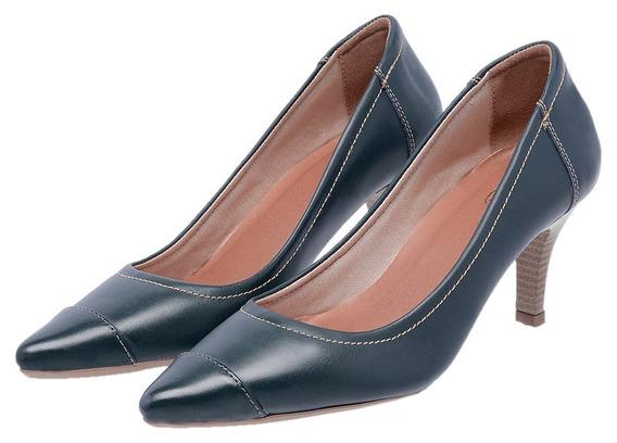 Sapato Feminino Scarpin Mz Couro Salto Ref 3802 Frete Gratis