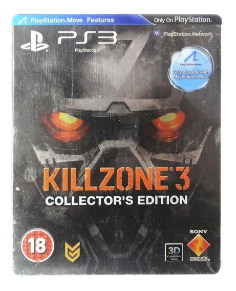 Killzone 3 Steelcase Ps3 Mídia Física Pronta Entrega