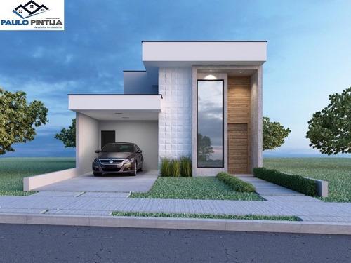 Casa Térrea Com Piscina Em Condominio Fechado Jd Mantova - Ca04330 - 69231974