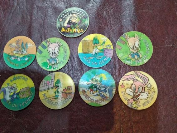 Lote De 9 Tazos 3 D Warner Bros 1994. Disney