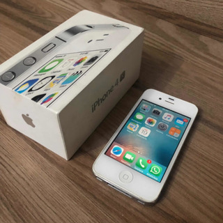 Celular Apple iPhone 4 S 8gb Branco Na Caixa Super Novo