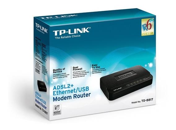 Modem Router Ethernet/usb Tp Link Td-8817