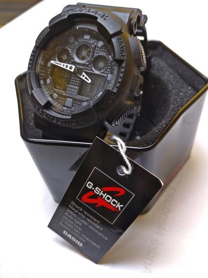 Relógio Masculino Preto Fosco G- Digital Prova D´água + Caix
