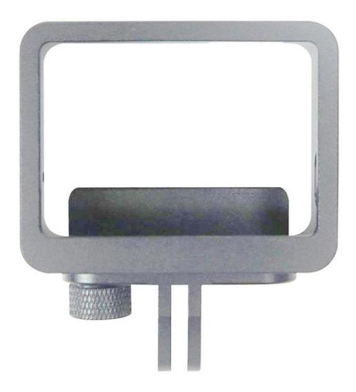 Frame Moldura Em Alumínio Prata Para Gopro 5/6/7 Black