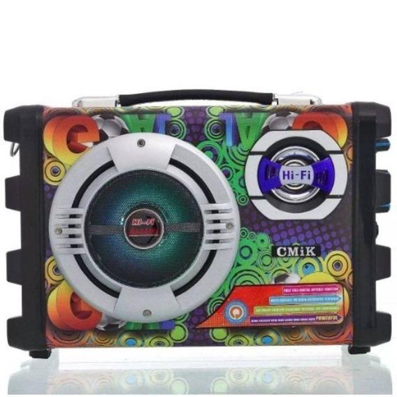 Caixa De Som Bluetooth Portatil Amplificada Sd Usb Fm Xtrad