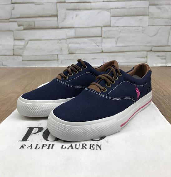 Tênis Masculino Sapatênis Ralph Lauren Azul