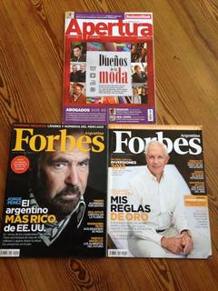Lote 3 Revistas De Negocios Forbes Y Apertura