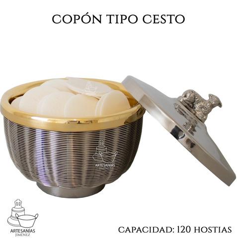 Imagen 1 de 5 de Cesto Copon Liturgico 120 Hostias